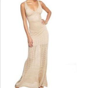 XOXO knit gold maxi dress